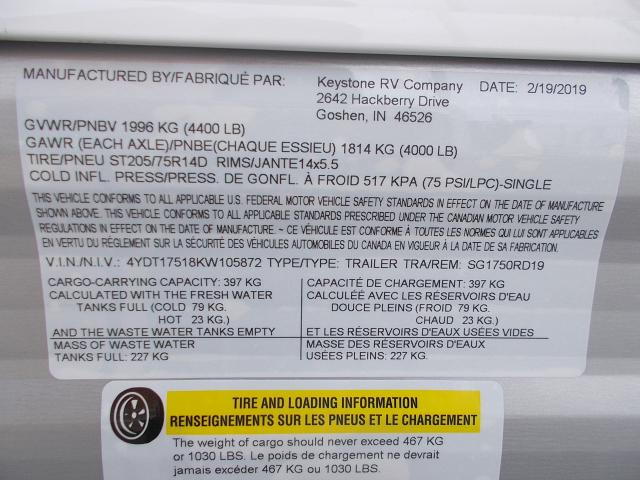 2019 Keystone Springdale Mini 1750RD