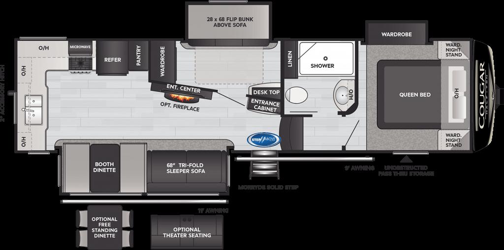 2021 Keystone Cougar Half-Ton 29MBS