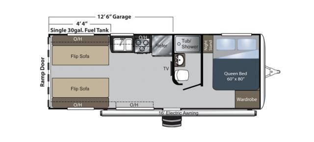 Raptor Fifth Wheel 22FS