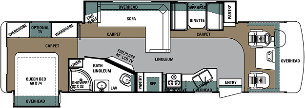 rv floor plans. class a motorhome 335ds rv floor plans e