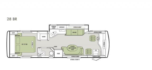 2014 Allegro Breeze 28 foot floorplan model