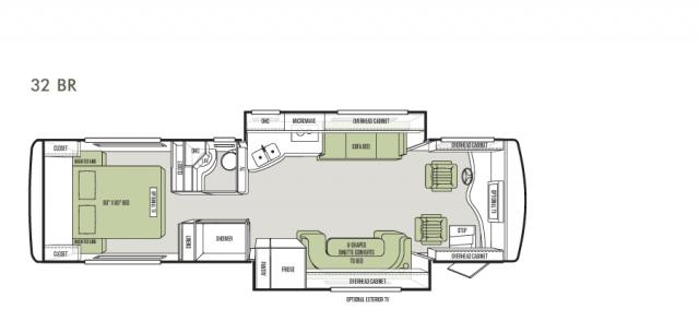 Allegro Breeze 32 foot floor plan