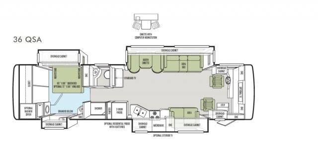 Allegro RED 36 QSA floor plan image