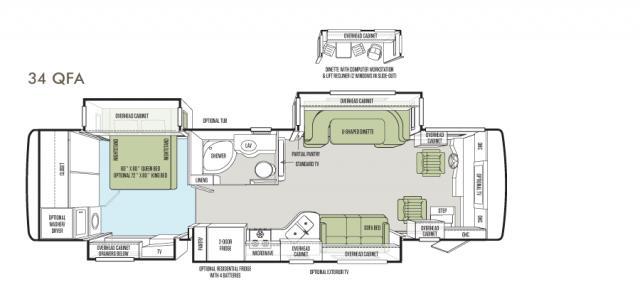 Allegro RED 34 QFA floor plan image