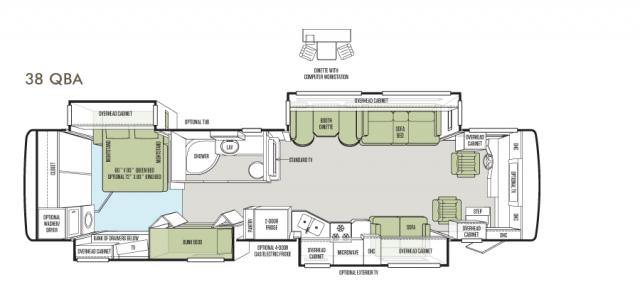 Allegro RED 38 QBA floor plan image