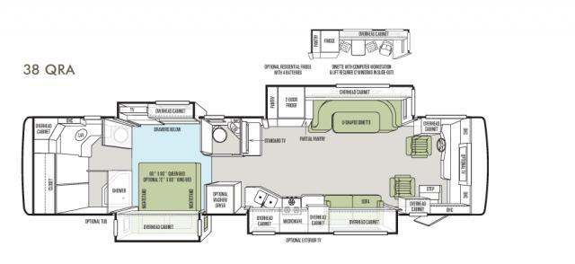 Allegro RED 38 QRA floor plan image